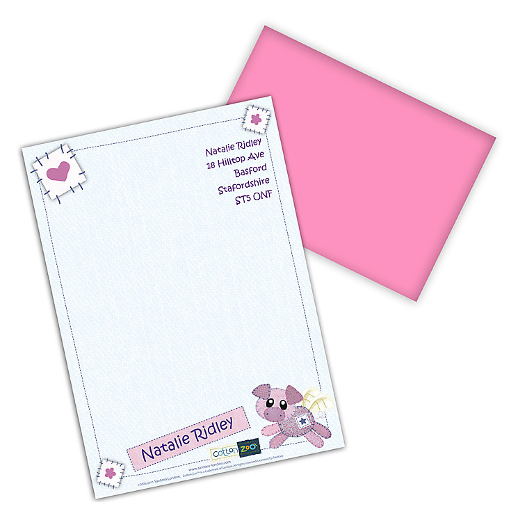 Cotton Zoo Organza the Piglet Stationery Set - Product number 2210363