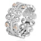 Clogau Kensington silver & 9ct rose gold ring size N - Product number 2211548