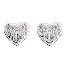 Clogau Kensington silver & 9ct rose gold stud earrings - Product number 2211564