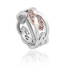 Clogau Gold Eternal Love silver & 9ct rose gold ring size L - Product number 2211572