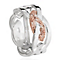 Clogau Gold Eternal Love silver & 9ct rose gold ring size P - Product number 2211599