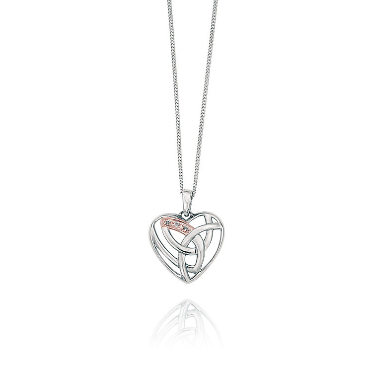 Clogau Gold Eternal Love silver & 9ct rose gold pendant - Product number 2211610