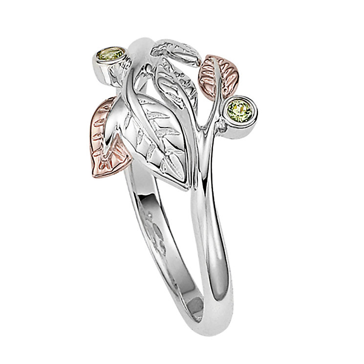 Clogau Awelon silver & 9ct rose gold ring size P - Product number 2211653