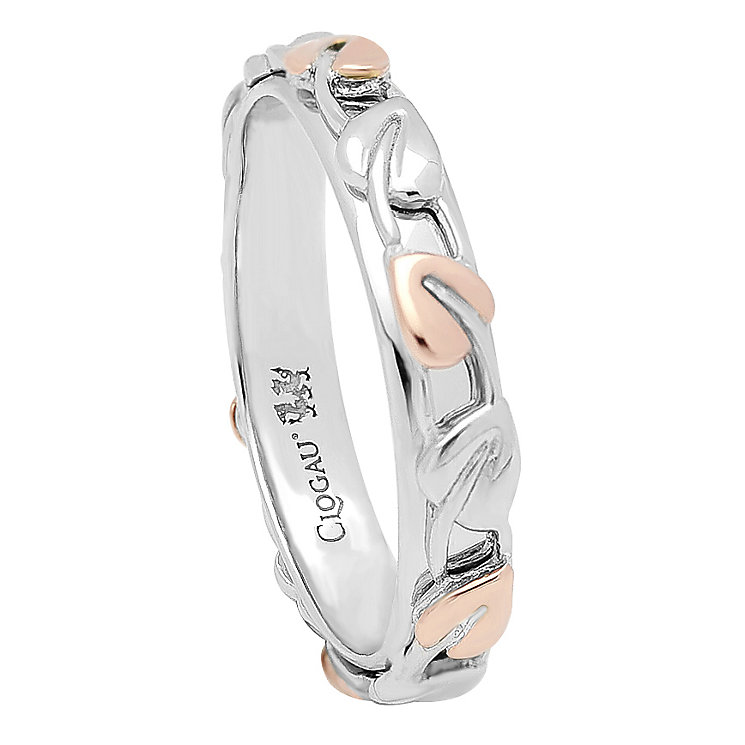 Clogau Gold silver & 9ct rose gold Tree of Life Ring size P - Product number 2211769