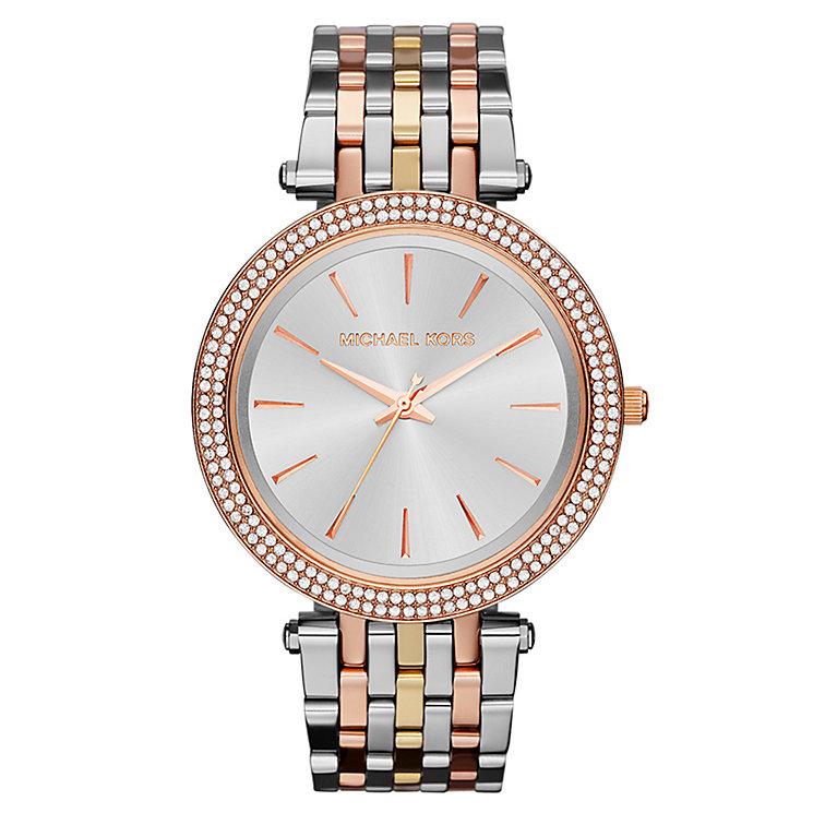 Michael Kors' Ladies' Stone Set Three Colour Bracelet Watch - Product number 2215691