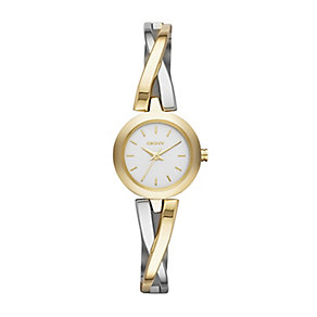 Dkny Crosswalk Ladies' Two Colour Bracelet Watch - Product number 2216094
