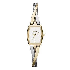Dkny Crosswalk Ladies' Two Colour Bangle Watch - Product number 2216116