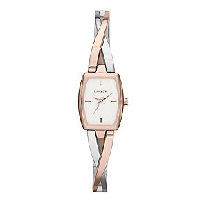 Dkny Crosswalk Ladies' Two Colour Bangle Watch - Product number 2216124