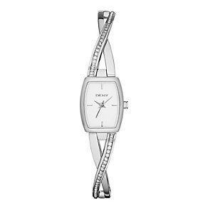 DKNY ladies' stainless steel stone set crossover watch - Product number 2216132