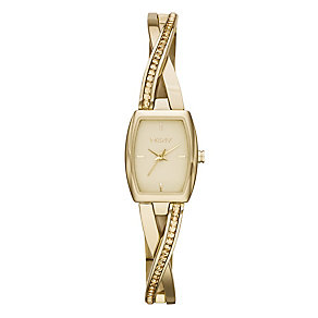 Dkny Crosswalk Ladies' Gold Tone Stone Set Bracelet Watch - Product number 2216140