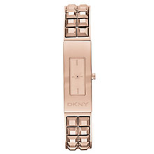 Dkny Beekman Ladies' Rose Gold Tone Silver Bracelet Watch - Product number 2216213