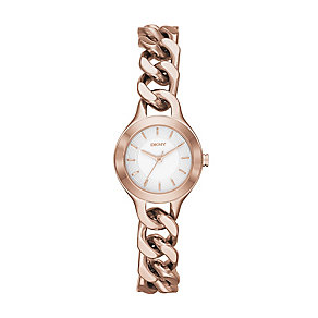 DKNY Chambers ladies' rose gold-plated bracelet watch - Product number 2216264