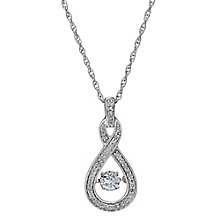 Sterling silver 0.25ct diamond figure of 8 pendant - Product number 2218119