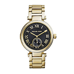 Michael Kors ladies' gold-plated stone set bracelet watch - Product number 2218690