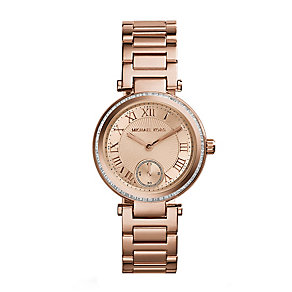 Michael Kors Skylar ladies' rose gold-plated bracelet watch - Product number 2218771