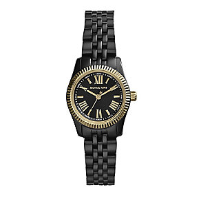 Michael Kors ladies' black IP-plated bracelet watch - Product number 2218801