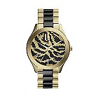 Michael Kors ladies' two colour zebra print bracelet watch - Product number 2218852