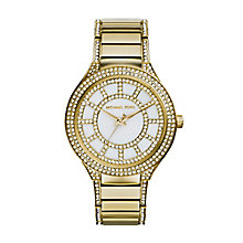 Michael Kors ladies' gold-plated stone set bracelet watch - Product number 2218879