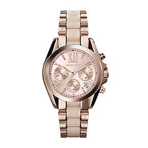 Michael Kors ladies' rose gold-plated bracelet watch - Product number 2219093