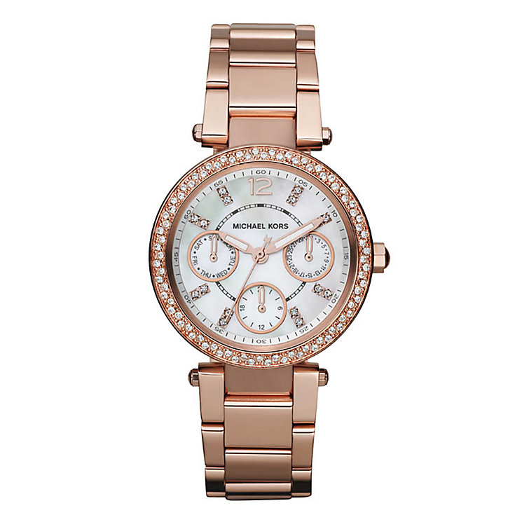 Michael Kors Ladies' Rose Gold Tone Bracelet Watch - Product number 2219220
