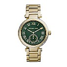 Michael Kors ladies' gold-plated stone set bracelet watch - Product number 2219328