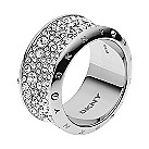 DKNY Crystal stainless steel ring size P - Product number 2219484