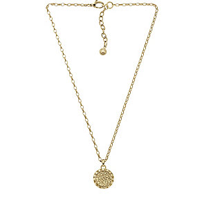 DKNY Crystal Gold Tone Pave Necklace - Product number 2219557
