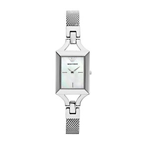Emporio Armani ladies' stainless steel mesh bracelet watch - Product number 2219603