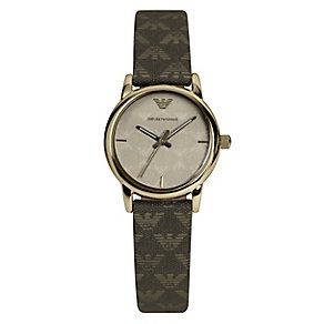 Emporio Armani Exclusive ladies' khaki fabric strap watch - Product number 2219700