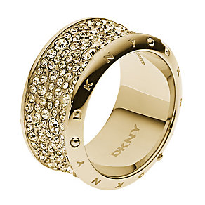 DKNY Crystal gold-plated ring M - Product number 2219751