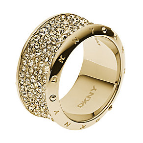 DKNY Crystal gold-plated ring P - Product number 2219778
