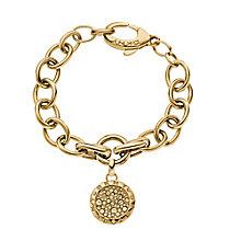 DKNY Crystal Gold Tone Pendant Bracelet - Product number 2219786