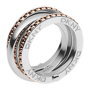 DKNY 2 Colour Layer Ring M - Product number 2219794