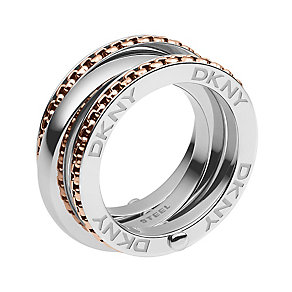 DKNY Two Colour Layer Ring Size P - Product number 2219808