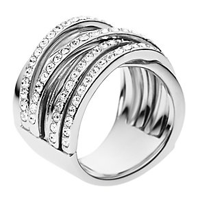 DKNY Stainless Steel Stone Set Woven Ring Size M - Product number 2219840