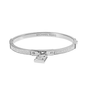 Michael Kors stainless steel pave stone set padlock bangle - Product number 2220288