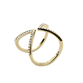 Michael Kors gold plated stone set arrow ring size L 1/2 - Product number 2220318