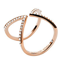 Michael Kors rose gold-plated arrow ring size O - Product number 2220326