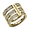 Michael Kors Gold Tone Triple Bar Ring Size L 1/2 - Product number 2220342