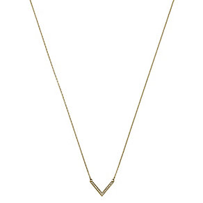 Michael Kors Gold Tone Stone Set Arrow Necklace - Product number 2220377