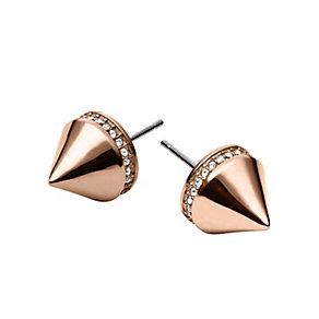 Michael Kors ladies' rose gold plated arrow stud earrings - Product number 2220415
