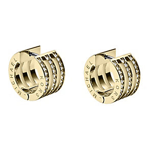 Michael Kors gold-plated stone set huggie earrings - Product number 2220431