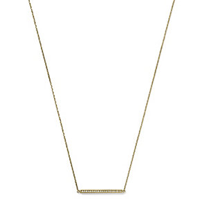 Michael Kors gold plated stone set matchstick necklace - Product number 2220474