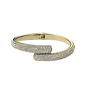 Michael Kors gold-plated pave hinge bangle - Product number 2220490