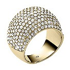 Michael Kors gold-plated pave ring size O - Product number 2220504