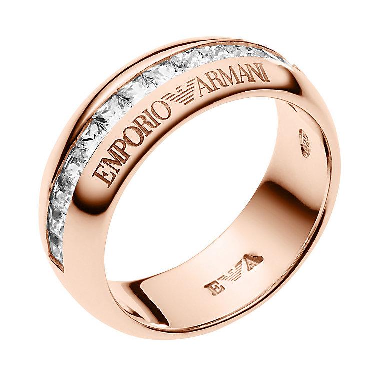 emporio armani gold tone set eagle ring m