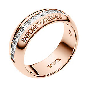 Emporio Armani rose gold-plated stone set eagle ring - Product number 2220555