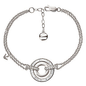 Emporio Armani sterling silver double ring bracelet - Product number 2220644