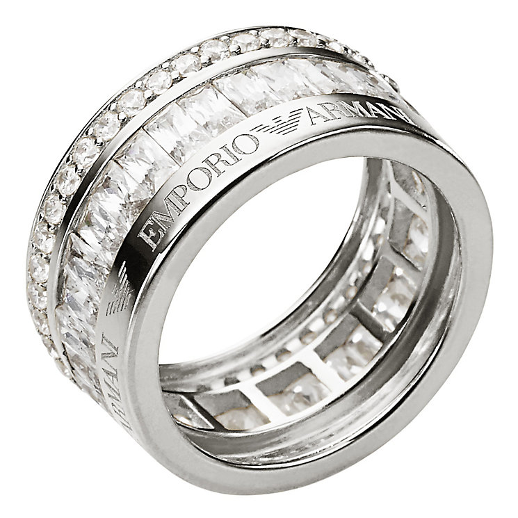 Emporio Armani Sterling Silver Ring Size M 1/2 - Product number 2220652