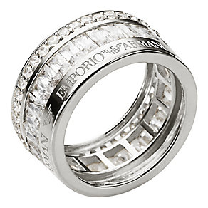 Emporio Armani sterling silver ring size P - Product number 2220660
